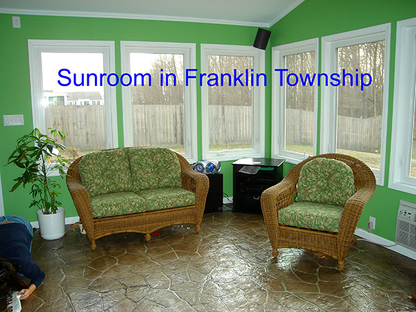 Sunroom in Franklin Township